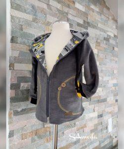 SA Fashion Kids_Jacke BATMAN Gr. 98 & Beaniehaube