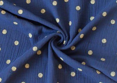 SA Fashion Kids_Musselin_musselin-dunekblau-bienen