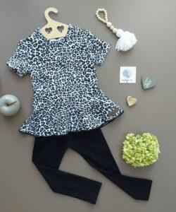 SA Fashion Kids_SET IRMI Leo schwarz weiß