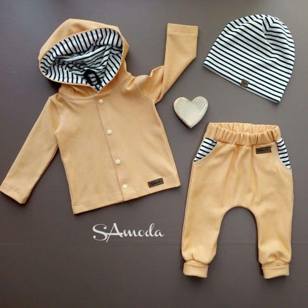 SA Fashion Kids_3-teiliges Set Fischgrätjersey