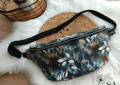 SA Fashion Kids XXL Body Bag Kunstleder Blätter
