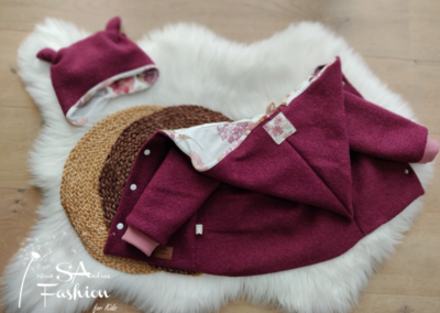 SA Fashion Kids Walkjacke Blumentraum bordeaux4